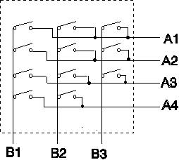 Matrix output keyboard circuit diagram