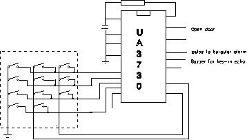 Matrix keyboard decoder circuit