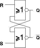 NOR only S-R flip-flop circuit