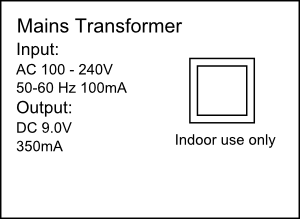 Double insulated transformer label