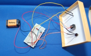 Electronics for kids - Low light sensor circuit - breadboard circuit