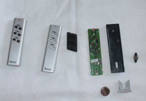 Remote control for electrical socket, in pieces