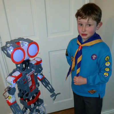 Beaver Scout with Meccanoid Robot