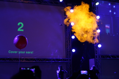 #Error 404 - explosion on stage using a Raspberry Pi at the Big Bang Fair