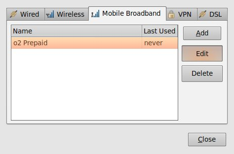 Mobile broadband - Network Connections on Ubuntu Linux