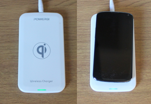 QI wireless charger for the Nexus 4 Android phone