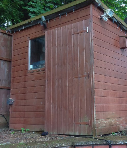 Outdoor shed workshop - photo taken with the Raspberry Pi camera module
