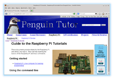 Updated PengurinTutor Linux, electronics and open source projects website