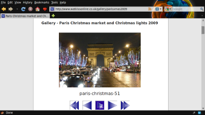 Screen shot of Penguin Gallery in use on Watkissonline.co.uk (v0.1.1)