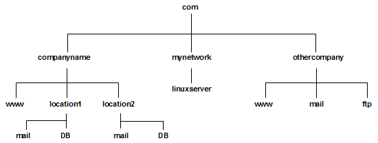 TCP/IP Networking - example DNS tree