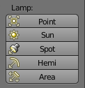 Add a new lamp / light source in Blender