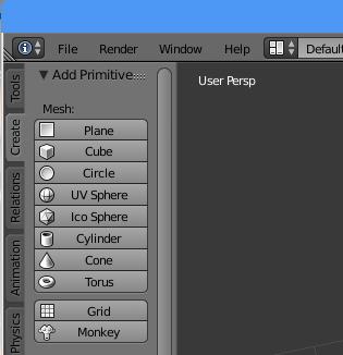 Create new shapes tab in blender