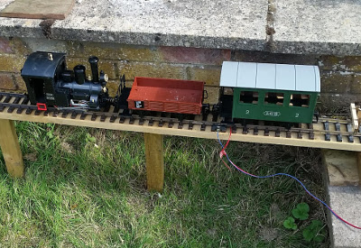 Example of narrow gauge - G-Scale railway