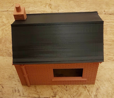 3D printed model railway Weigh bridge building in G-Scale