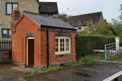 Weigh bridge building at Winchcombe Station on the Gloucestershire and Warwickshire Steam Railway